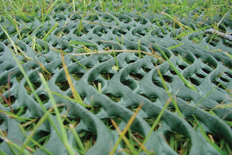 Grass Reinforcement mesh that protects grass prone to rutting, wear and mud caused by cars, dogs and pedestrian traffic