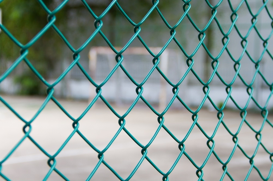 Heavy Plastic Coated Chain Link Fence Green Pvc Steel