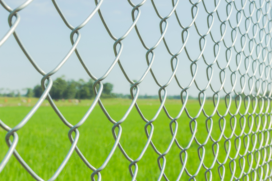 Heavy Galvanised Chain Link Fence | Steel Fencing Mesh | 1.8m / 6ft ...