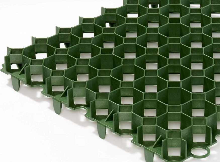 Bodpave 40 Porous Plastic Grass Pavers Green Car Parking