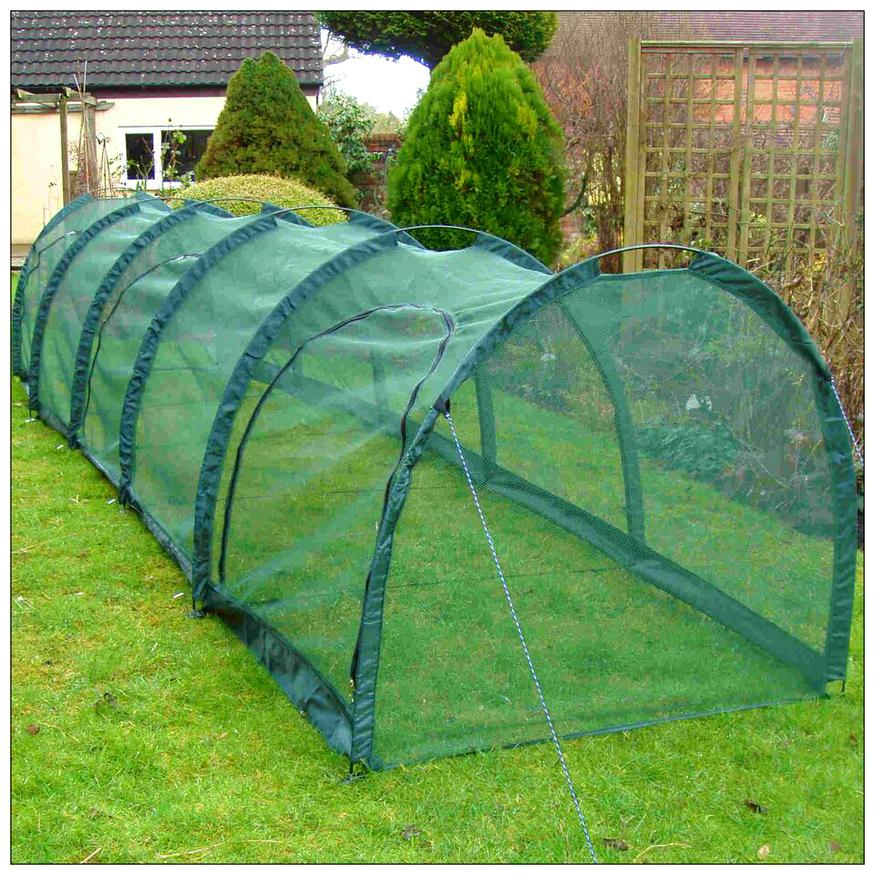 Grow Tunnel 4mm Garden Netting Crop Protection 5mx1mx1m