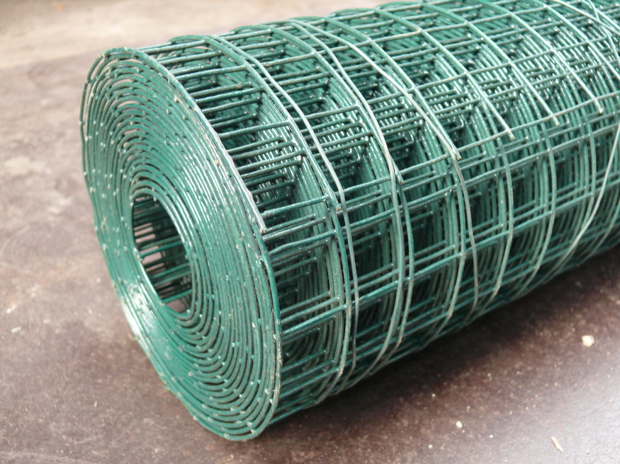 Green 1.8m / 6ft PVC Weld Mesh Fence | Thick 10 Gauge Galvanised ...