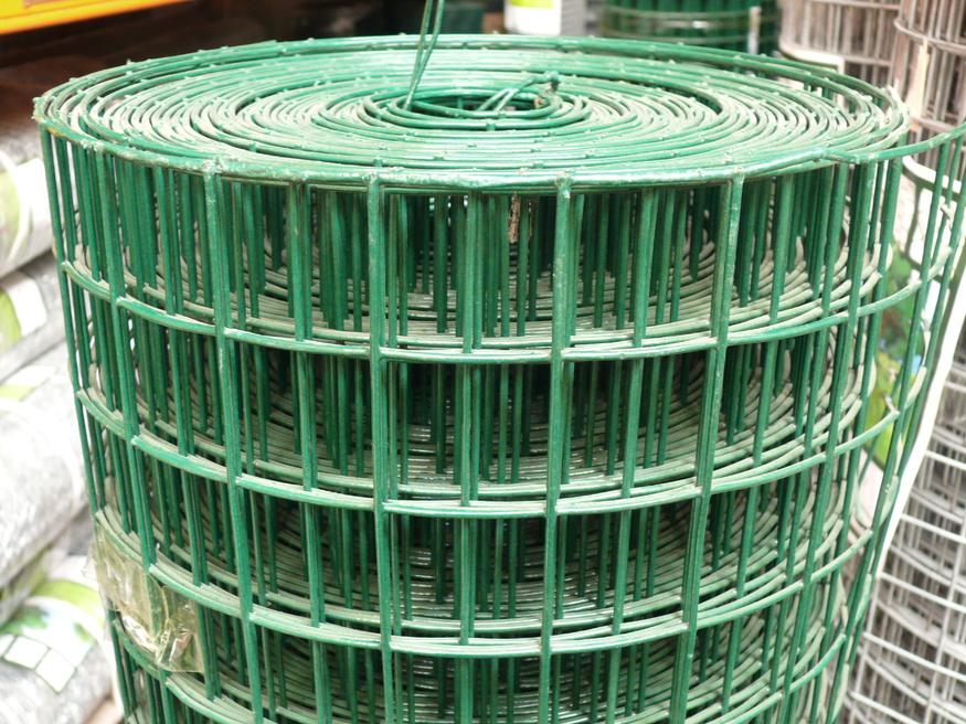 8ft Green Pvc Weld Mesh Fencing 10 Gauge Steel Wire