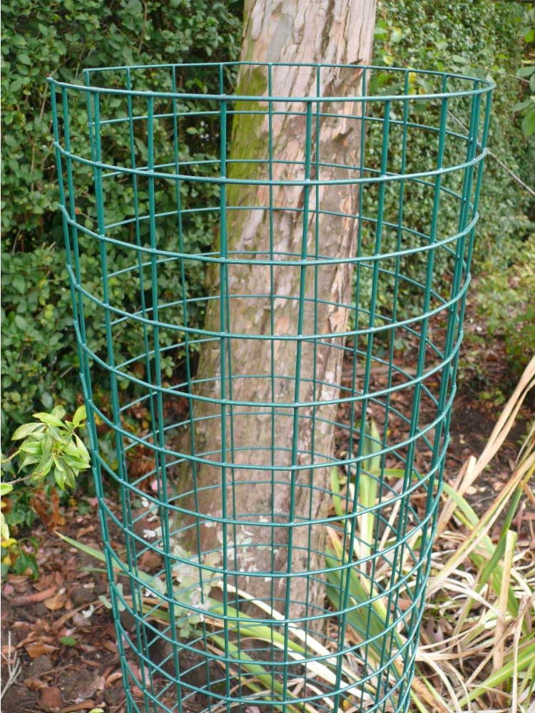 1 8m Tree Protection Guards Green Pvc Coated Welded Wire