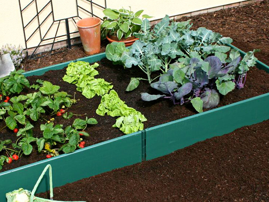Raised Bed Kit 2m X 2m 250mm High Extendable Plastic Garden Beds