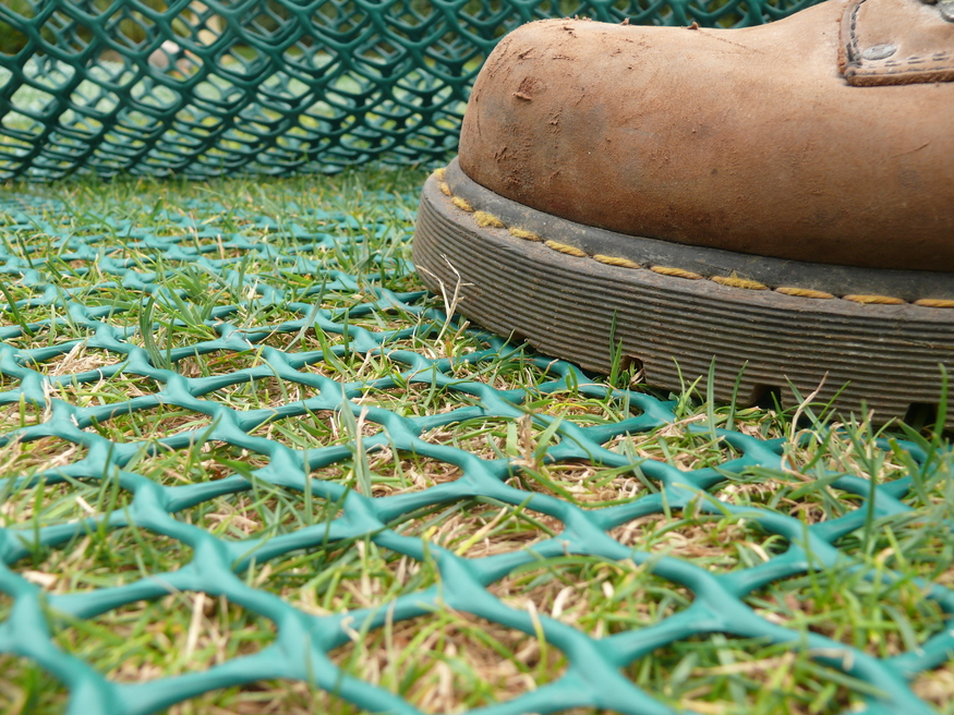 Green Plastic Reinforcement Mesh for Grass Protection | 2m x