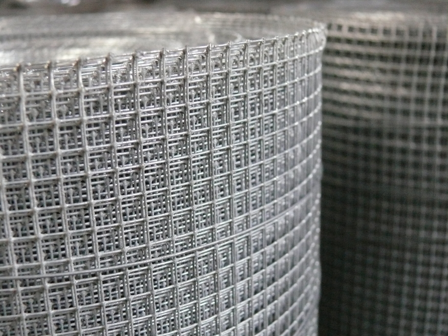 Galvanised wire mesh mm square hole size ft cm m