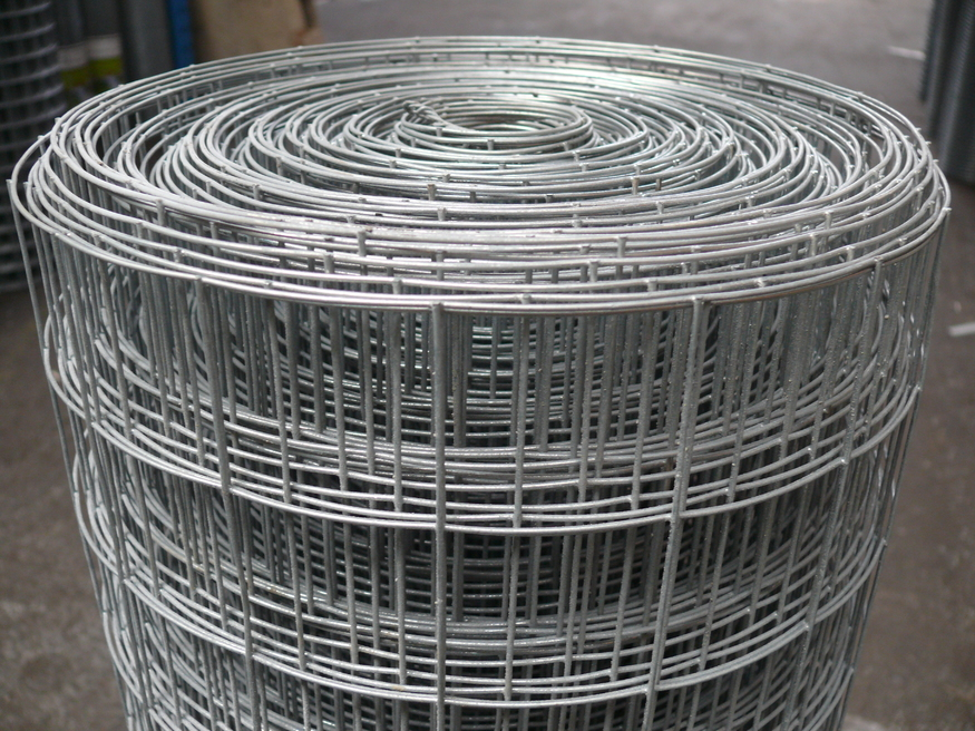 Heavy Welded Wire Mesh 1 8mx25m Galvanised Fencing 2 Holes