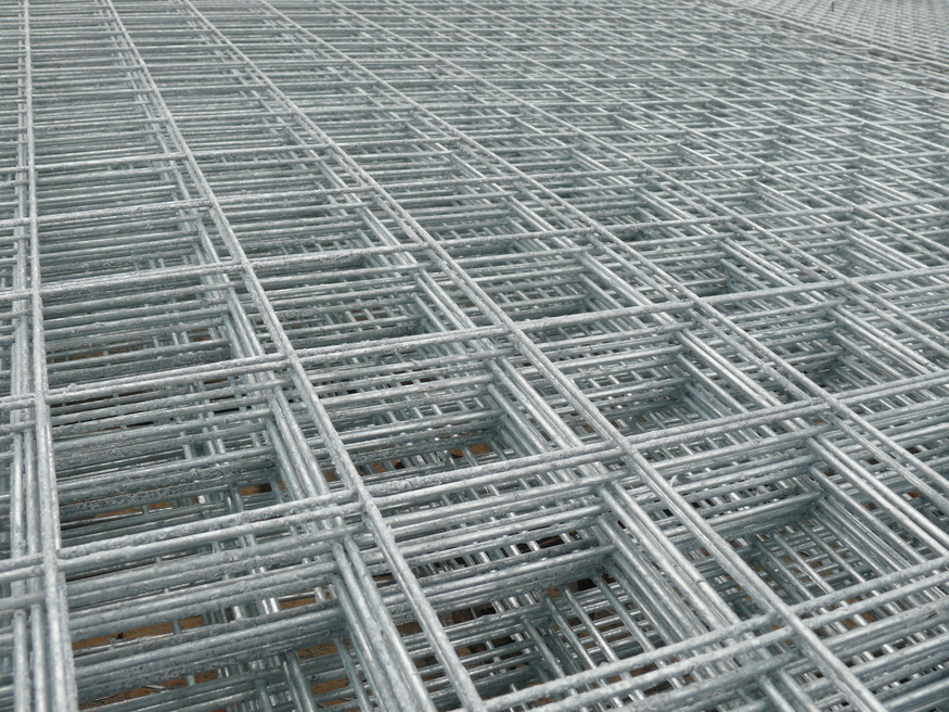 Heavy Galvanised Welded Mesh Panel 8ft X 4ft 75mm 3inch