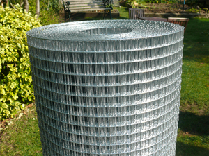 Welded Wire Mesh 3ft x 30m - 12x12mm holes / 16 swg (1.6mm) - European