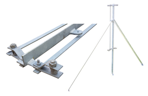 Galvanised 2-Way Post for 1.2m Chain ...
