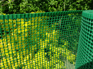 Square Plastic Garden Mesh ~ 1m x 30m roll ~ 4x4mm holes ~ Green