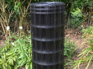 Black PVC Coated Border Fencing Mesh 1.2m x 25m (100x50mm mesh)