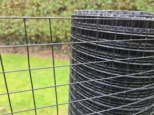 Black PVC Coated Welded Wire Mesh 3ft x 30m (25mm mesh), 19 swg