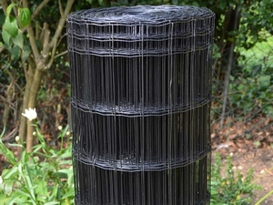 Black PVC Coated Border Fencing Mesh 1m x 10m (100x50mm mesh)