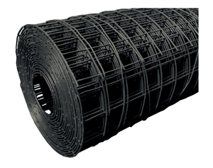 "Black PVC Welded Steel Mesh 0.9m x 25m (50mm/2"" hole) 3/2.5mm"
