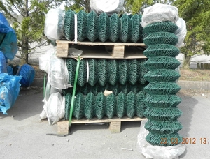 Chain Link Fence 1.5m X 25mtr ~ Green PVC Coated 50mm 2.5/1.7mm