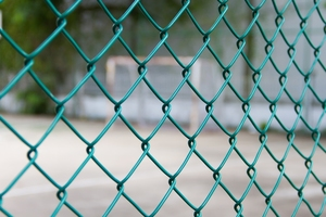 Medium Green PVC Chain Link Fence 1.5m X 25mtr ~ 50mm 3.0/1.9mm - European
