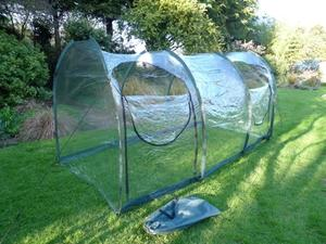 Clear Polythene Cloche Grow Tunnel ~ 3m long x 1.5m x 1.5m