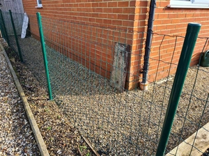 Green PVC Coated Welded Wire Fencing & Posts Kit System 1m x 25m