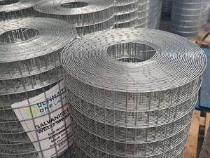"3ft (0.91m) x 30m (1"" x 1"" Hole) Welded Wire Mesh Roll - 14 swg"