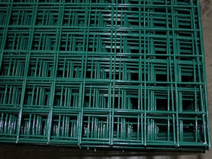 Green PVC Coated Galvanised Weld Mesh Panel 6ft x 3ft - 50mm (12 swg)