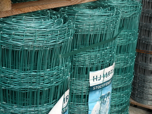 Green Galvanised Stock Fence ~ L10/120/15 ~ 1.2m x 50m 2.5mm/2mm wire