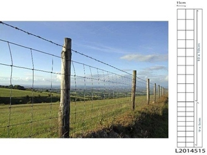 Galvanised Stock Fencing ~ L20/145/15 ~ 1.45M x 50m 2.5/2mm