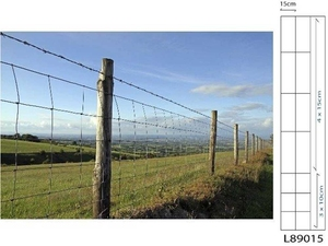 Galvanised Stock Fencing ~ L8/90/15 ~ 0.9M x 50m 2.5/2mm