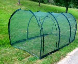 Cloche Grow Tunnel 4mm Netting ~ 3m long x 1m x 1m