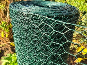 Green PVC Wire Netting - 1m x 50m roll / 25mm Mesh Hole