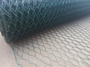 Green PVC Wire Netting - 1m x 10m roll / 13mm Mesh Hole