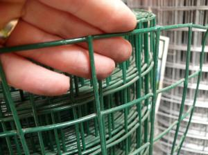 "Heavy PVC Welded Steel Mesh 0.9m x 25m (50mm/2"" hole), 12swg"