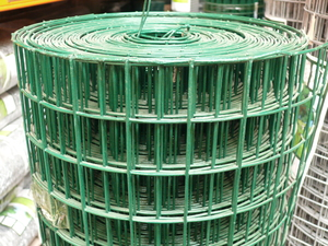 "Heavy PVC Welded Steel Mesh 1.5m x 25m (50mm/2"" hole), 12swg"