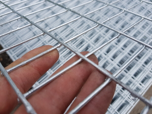 "Galvanised Weld Mesh Panel 6ftx3ft -  50x25mm/2x1"" holes (12 swg / 2.5mm)"