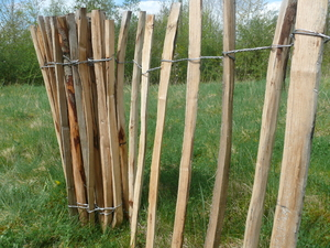 Chestnut Pale Fence 4ft x 10yd (1.2m x ...