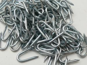 25mm U-Nails / Galvanised Fencing Steel Staples  ~ 1kg / 450 pk